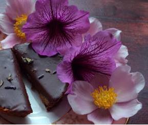 Mini Chocolate Lavendar Tarts by Super Friends. Photo by Yana Gorbulsky