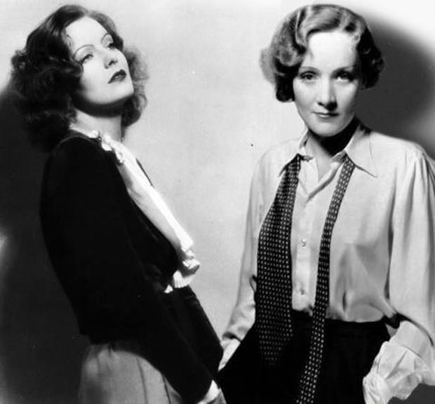 Greta Garbo and Marlene Dietrich
