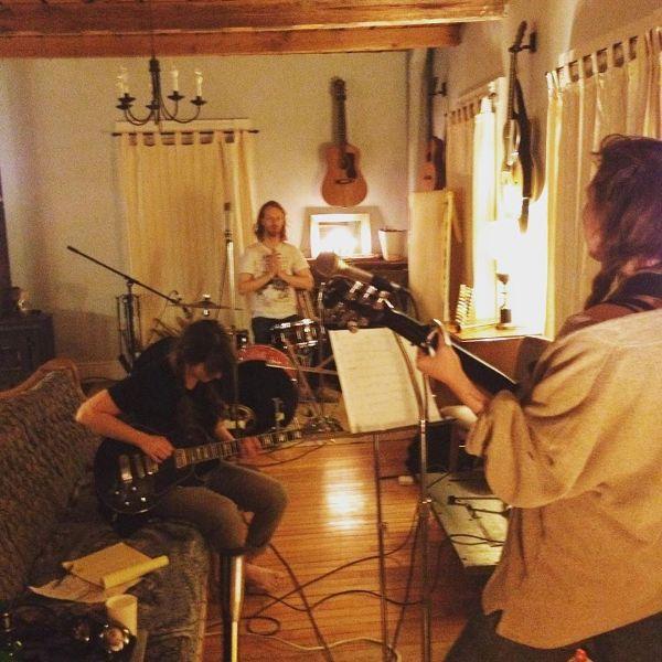Nancy Pants & Julie Doiron in studio