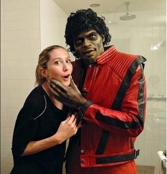 As Michael Jackson for Halloween