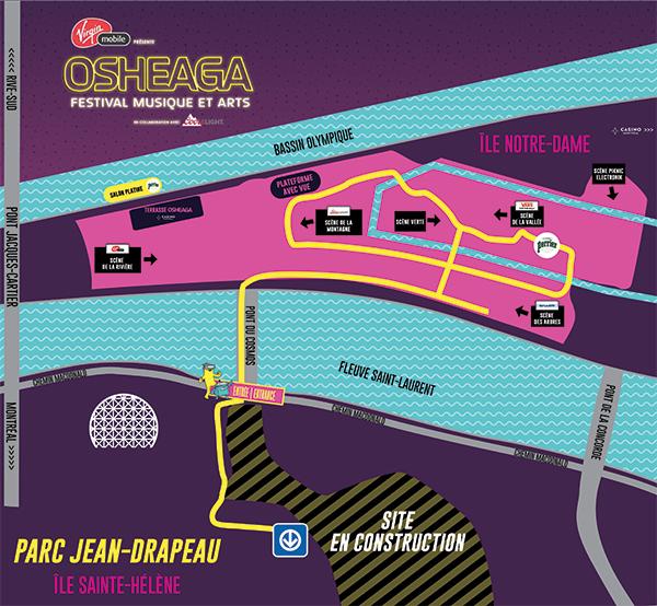 Osheaga site