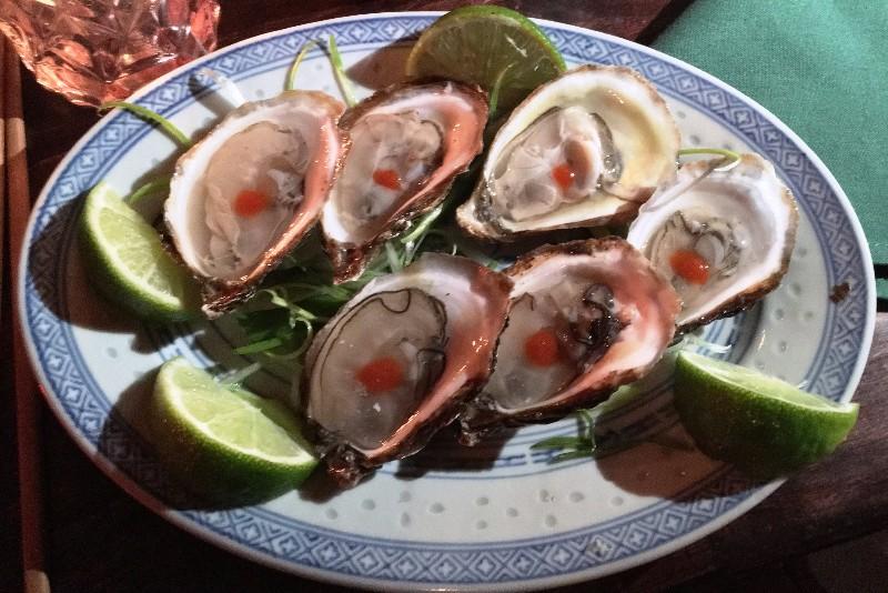 Tiradito Oysters