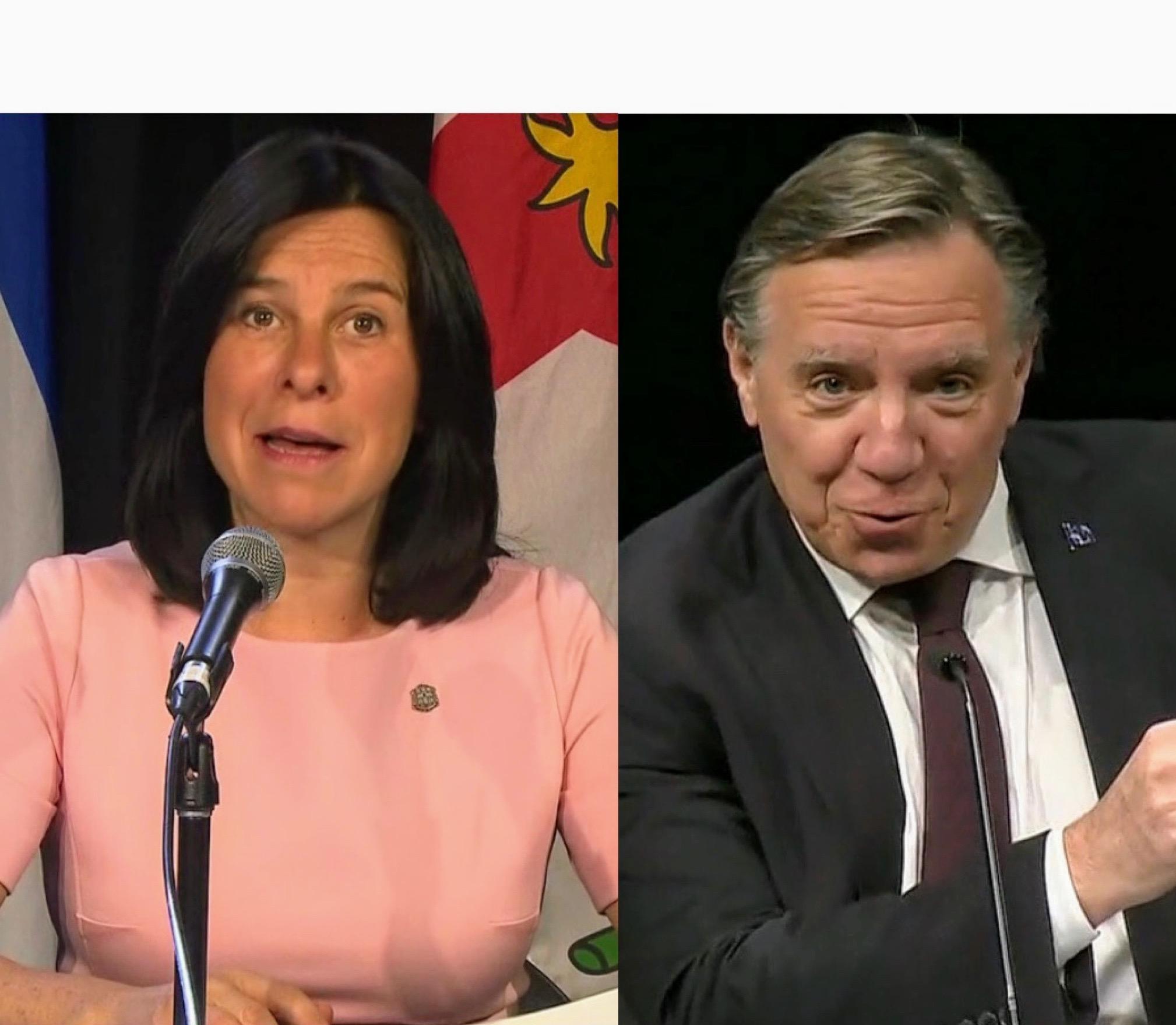 Valérie Plante and François Legault anti-racism Montreal