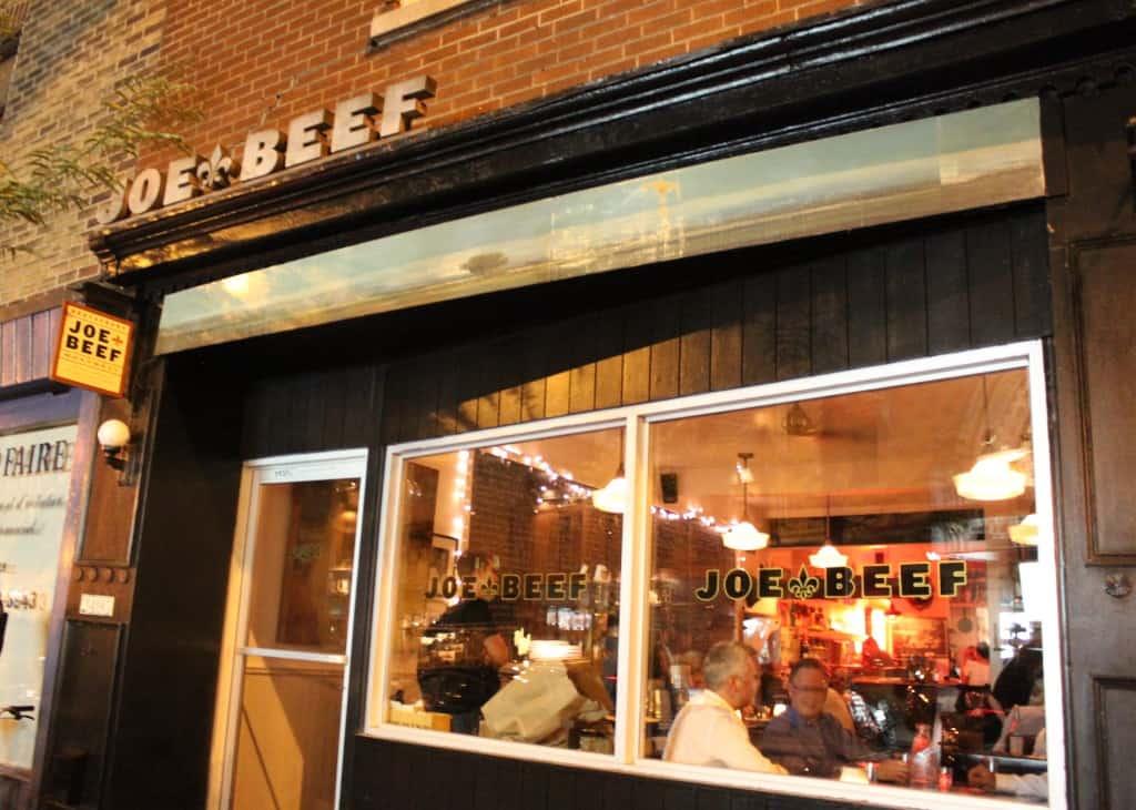 joe beef Canada's 100 best restaurants list