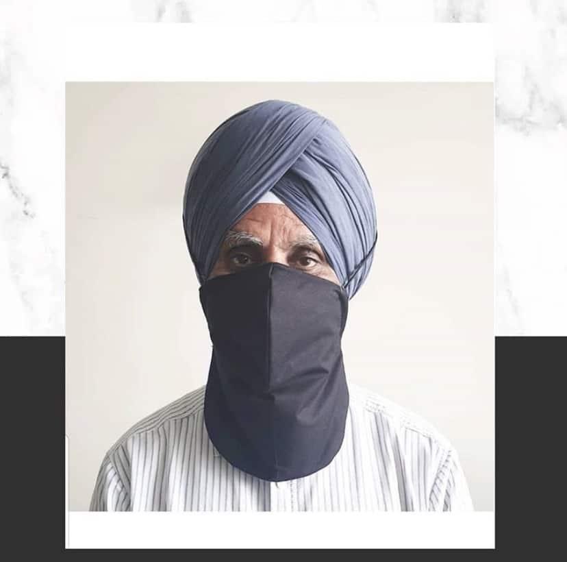 Masks for men with beards turbans Sikh COVID-19