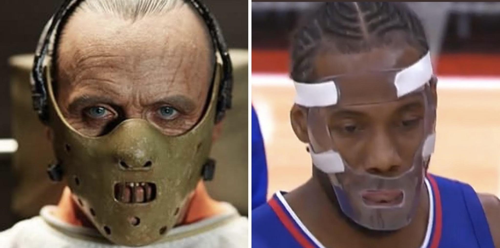 Kawhi Leonard face shield mask