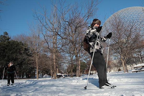 skiing parc jean drapeau montreal