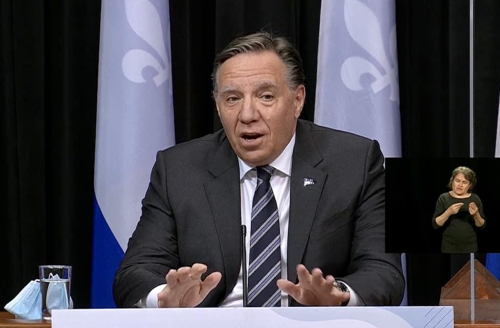 François Legault Liberal Party Monsef Derraji reopening Quebec deconfinement immigrants