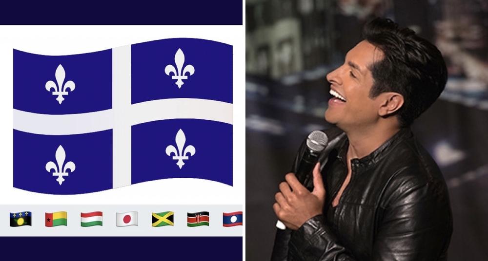 Sugar Sammy rips on Parti Québécois appeal for Quebec flag emoji