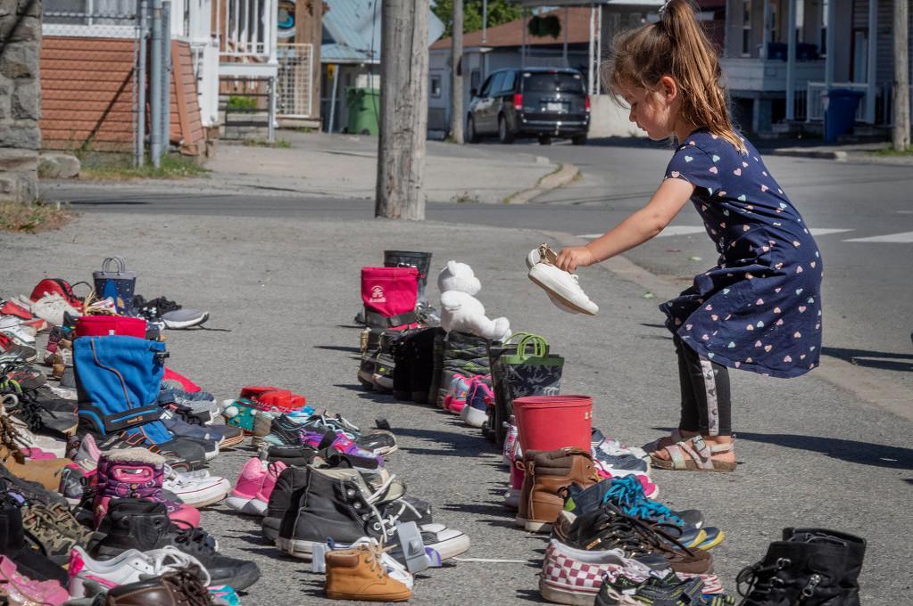 kahnawake shoes church kamloops residential school