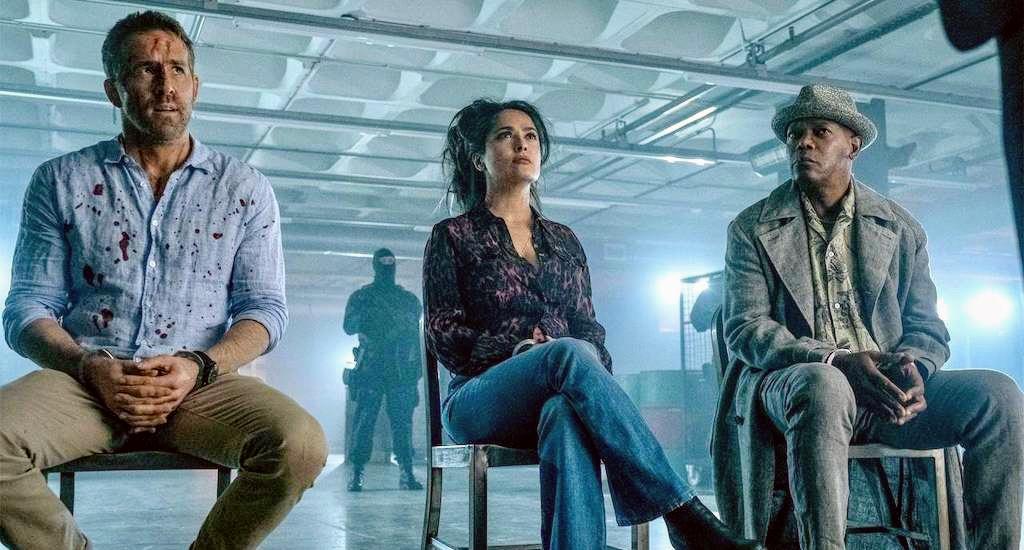 Salma Hayek and demented jokes almost save Hitman's Wife's Bodyguard