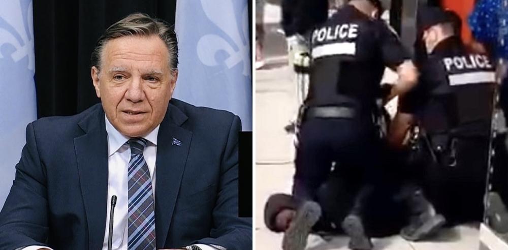 """François Legault reacts to """"troubling"""" video of SPVM officer kneeling on neck"""