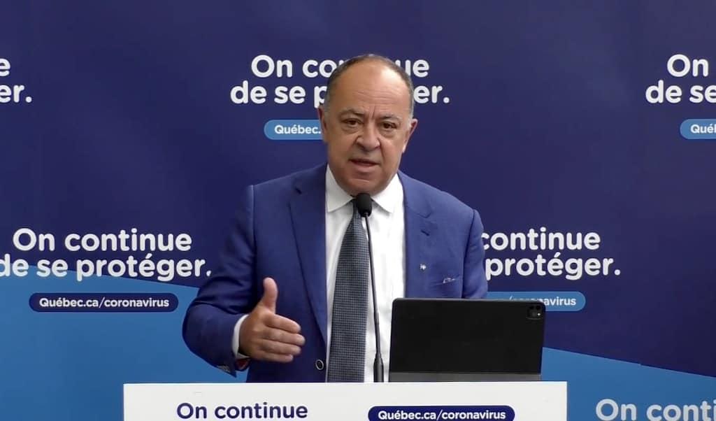 Christian Dubé Quebec vaccination lottery