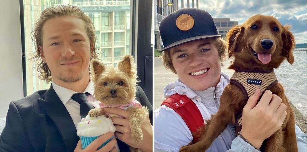 Canadiens Habs International Dog Day dogs photos Tyler Toffoli Cole Caufield