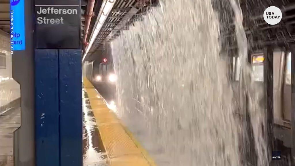 NYC New York City subway flooding 2021 climate change emergency