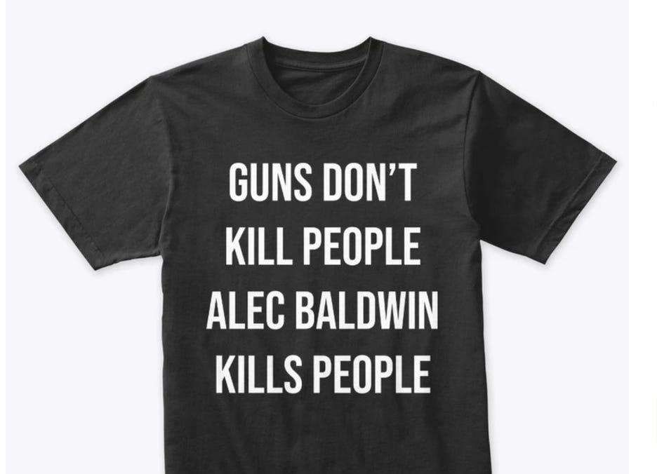"""Donald Trump Jr. is selling super tasteless """"Alec Baldwin kills people"""" shirts"""