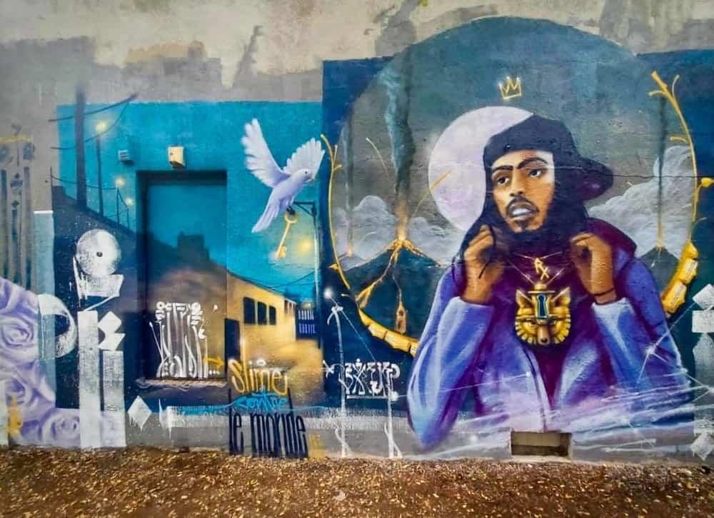 Graffiti artist MONK.E honours late Montreal rapper Jeune Loup with mural